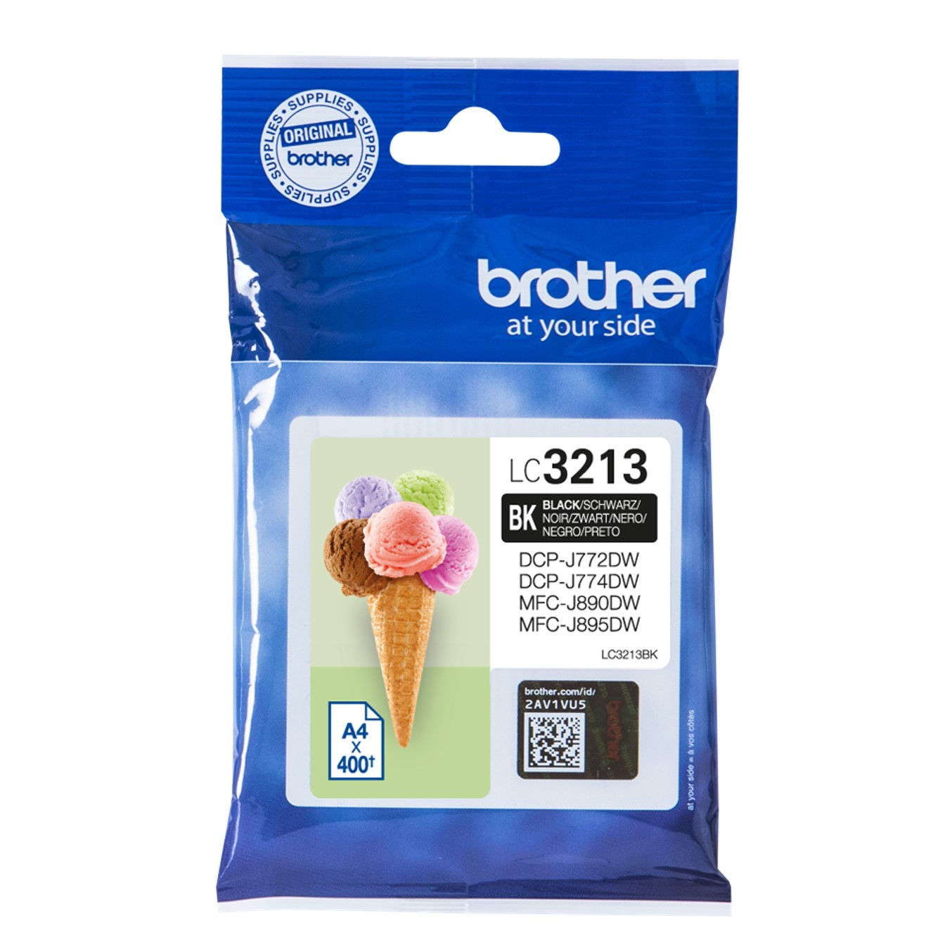 Brother LC3213BK - negro - original - cartucho de tinta