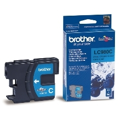 Cartucho tinta brother lc980c cian 260 paginas dcp-165c/ dcp-195c/ dcp-375cw/ mfc-250c/ mfc-255cw