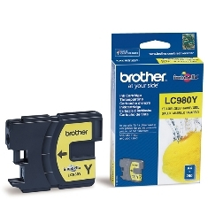 Cartucho tinta brother lc980y amarillo 260 paginas dcp-195c/ dcp-375cw/ mfc-250c/ mfc-255cw/ mfc-290c