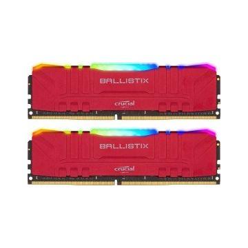 MEMORIA DDR4 32GB 2X16GB CRUCIAL BALLISTIX GAMING / UDIMM / 3200 MHZ / PC / ROJO