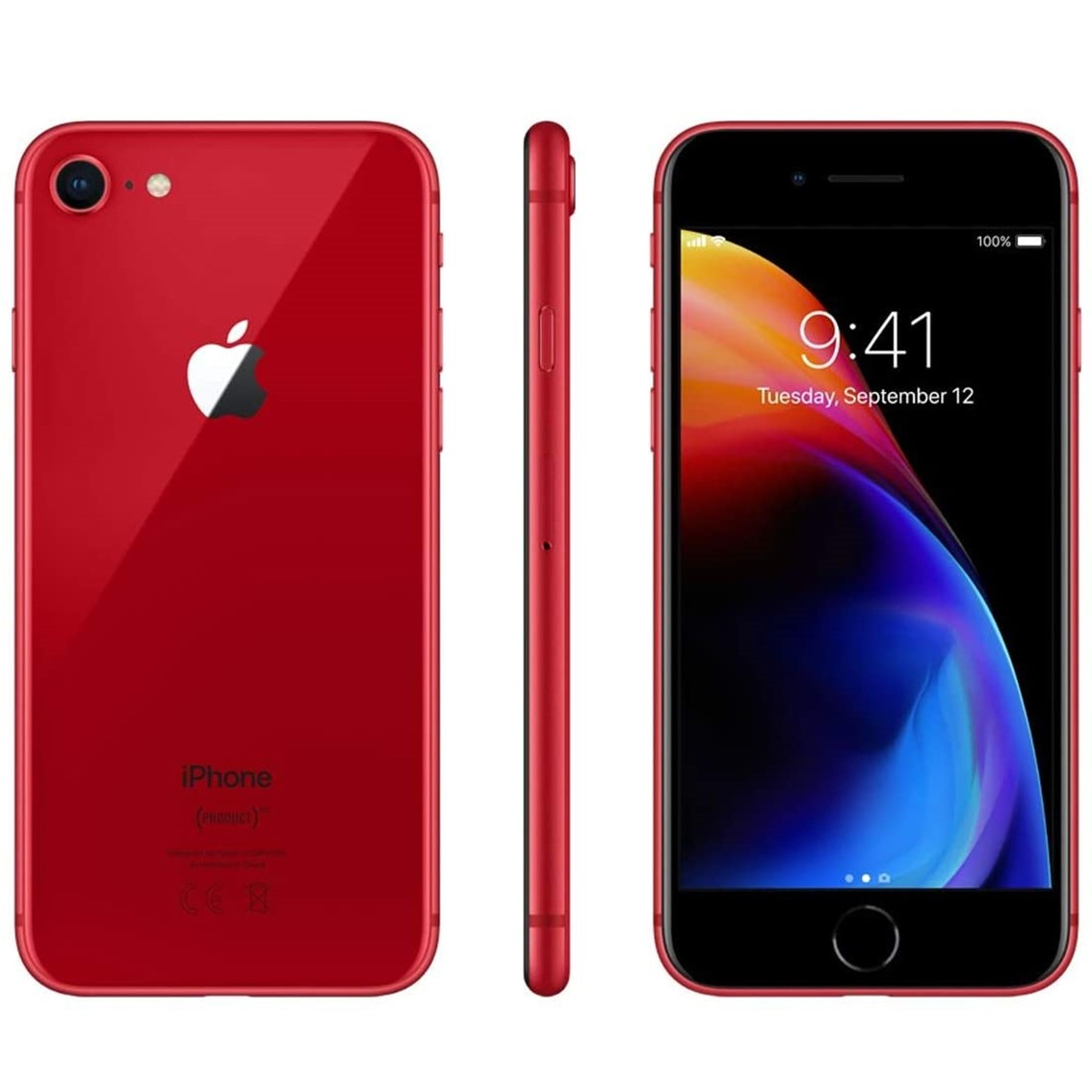 "TELEFONO MOVIL SMARTPHONE REWARE APPLE IPHONE 8 256GB RED / 4.7"" / LECTOR HUELLA / REACONDICIONADO / REFURBISH / GRADO A+"