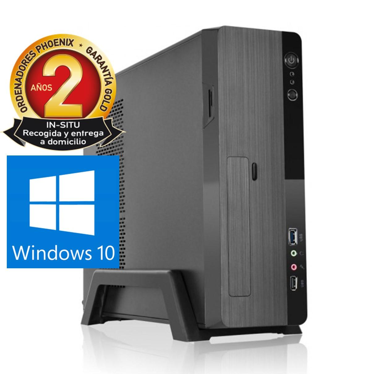 ORDENADOR DE OFICINA PHOENIX ZITY AMD RYZEN 3 3200G 8GB DDR4 480 GB SSD MICRO ATX SLIM  PC SOBREMESA WINDOWS 10 HOME