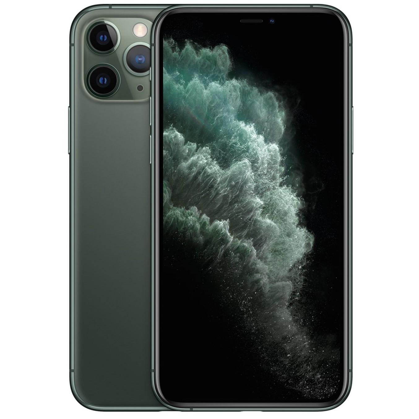 Telefono movil smartphone apple iphone 11 pro 64gb midnight green - 5.8pulgadas - dual sim - triple camara trasera