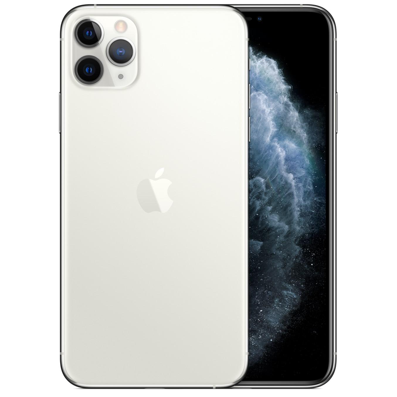 Telefono movil smartphone apple iphone 11 pro max 64gb silver - 6.5pulgadas - dual sim - triple camara trasera