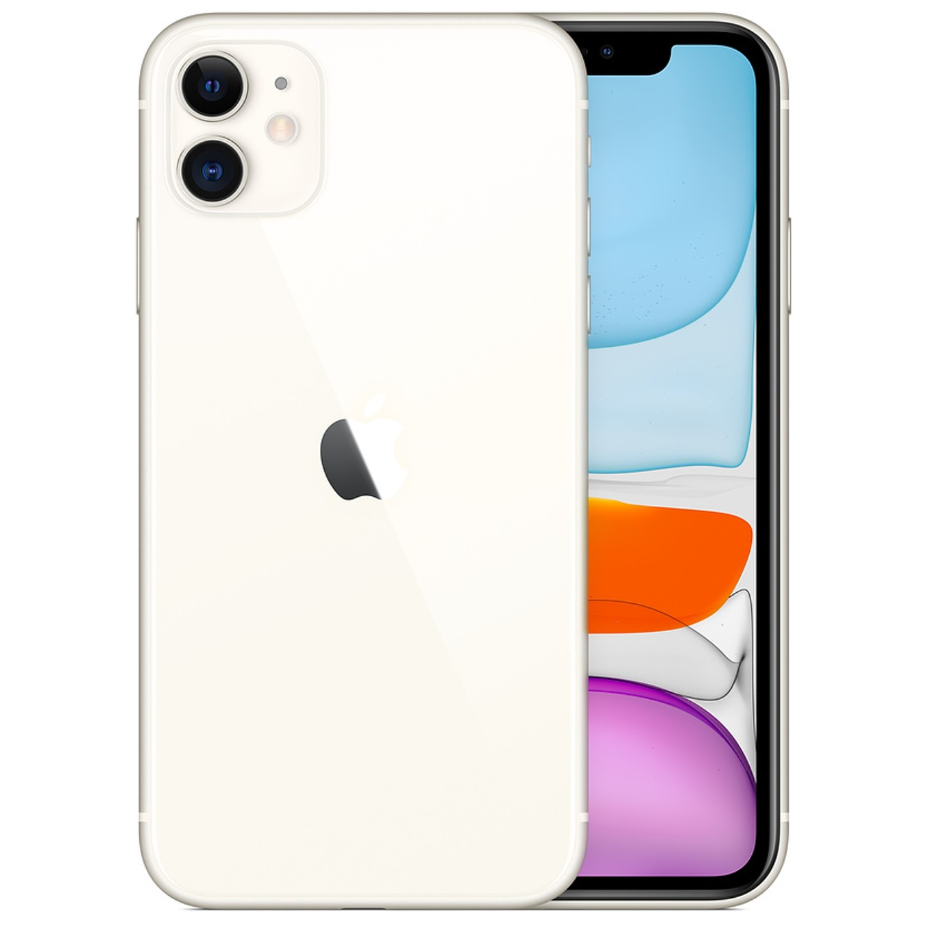 Telefono movil smartphone apple iphone 11 64gb blanco - 6.1pulgadas - dual sim