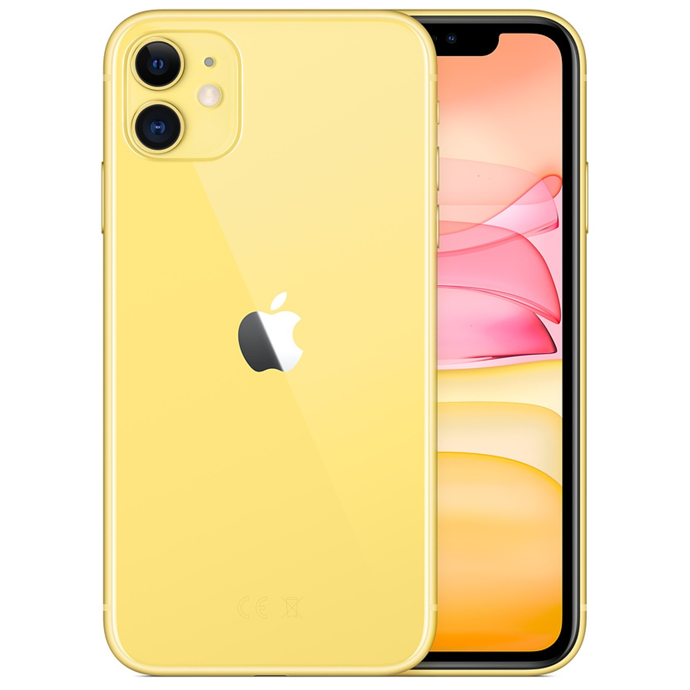 Telefono movil smartphone apple iphone 11 64gb amarillo - 6.1pulgadas - dual sim