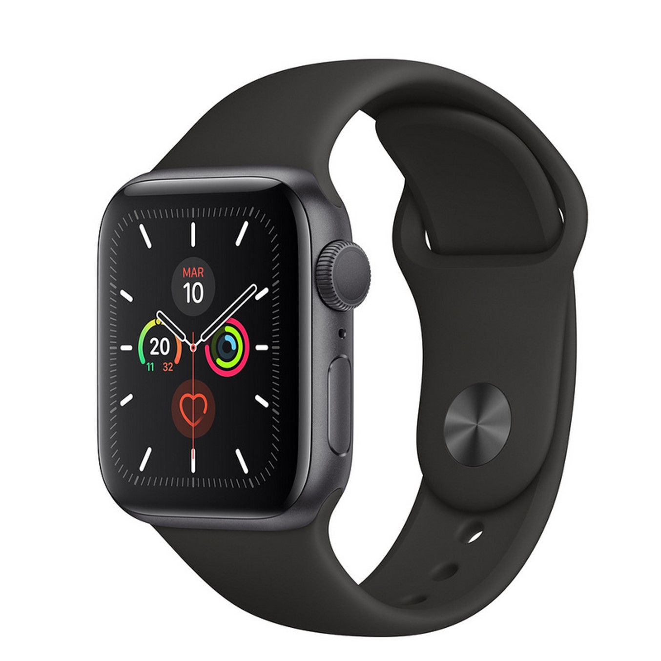 Reloj apple watch series 5 44 mm caja de aluminio con correa deportiva space gray