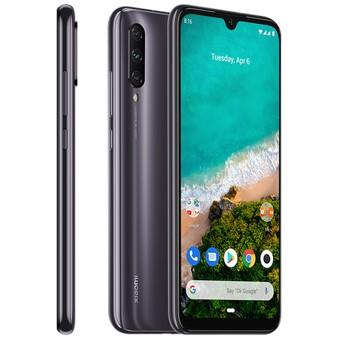 Telefono movil smartphone xiaomi mi a3 gris 6.08pulgadas -  128gb rom -  4 gb ram -  48+8+2mpx -  32mpx -  dual sim -  huella -  4000 mah
