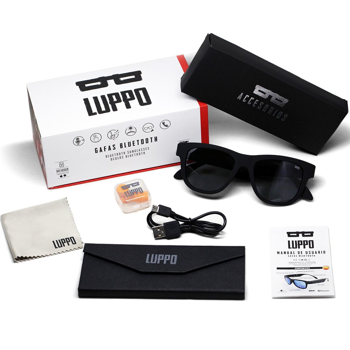 Para estrenar b934f c93fc Gafas De Sol Bluetooth Newline Luppo Lente Negra Incluida