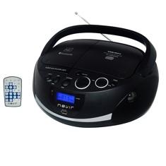 Radio cd mp3 portatil nevir nvr - 480ub negro - bluetooth