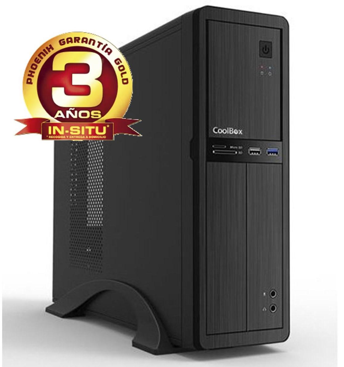 ORDENADOR DE OFICINA PHOENIX OBERON PRO INTEL CORE I3 6º GEN 4GB DDR4 500 GB RW MICRO ATX SLIM  PC SOBREMESA