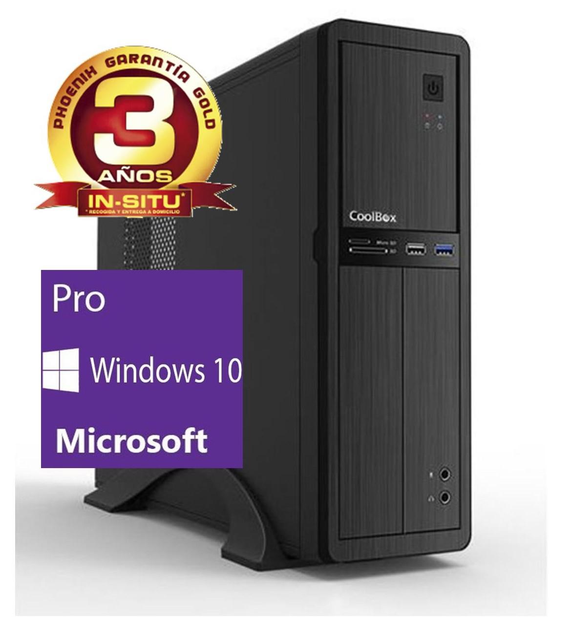 ORDENADOR DE OFICINA PHOENIX OBERON PRO INTEL CORE I3 6º GEN 4GB DDR4 500 GB RW MICRO ATX SLIM WINDOWS 10 PROFESIONAL PC SOBREMESA