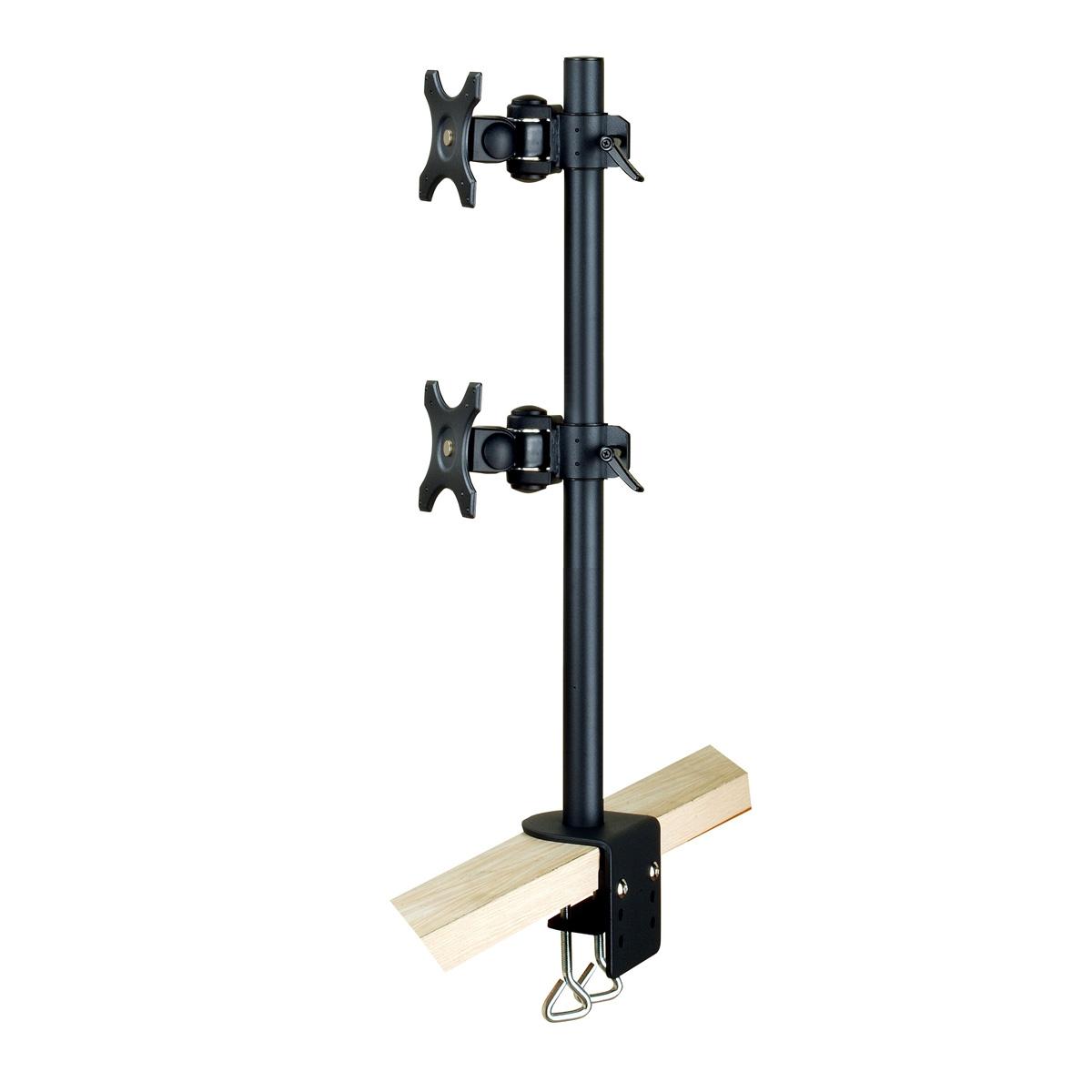 Soporte dual vertical para pantalla tv solicitud de for Soporte monitor mesa