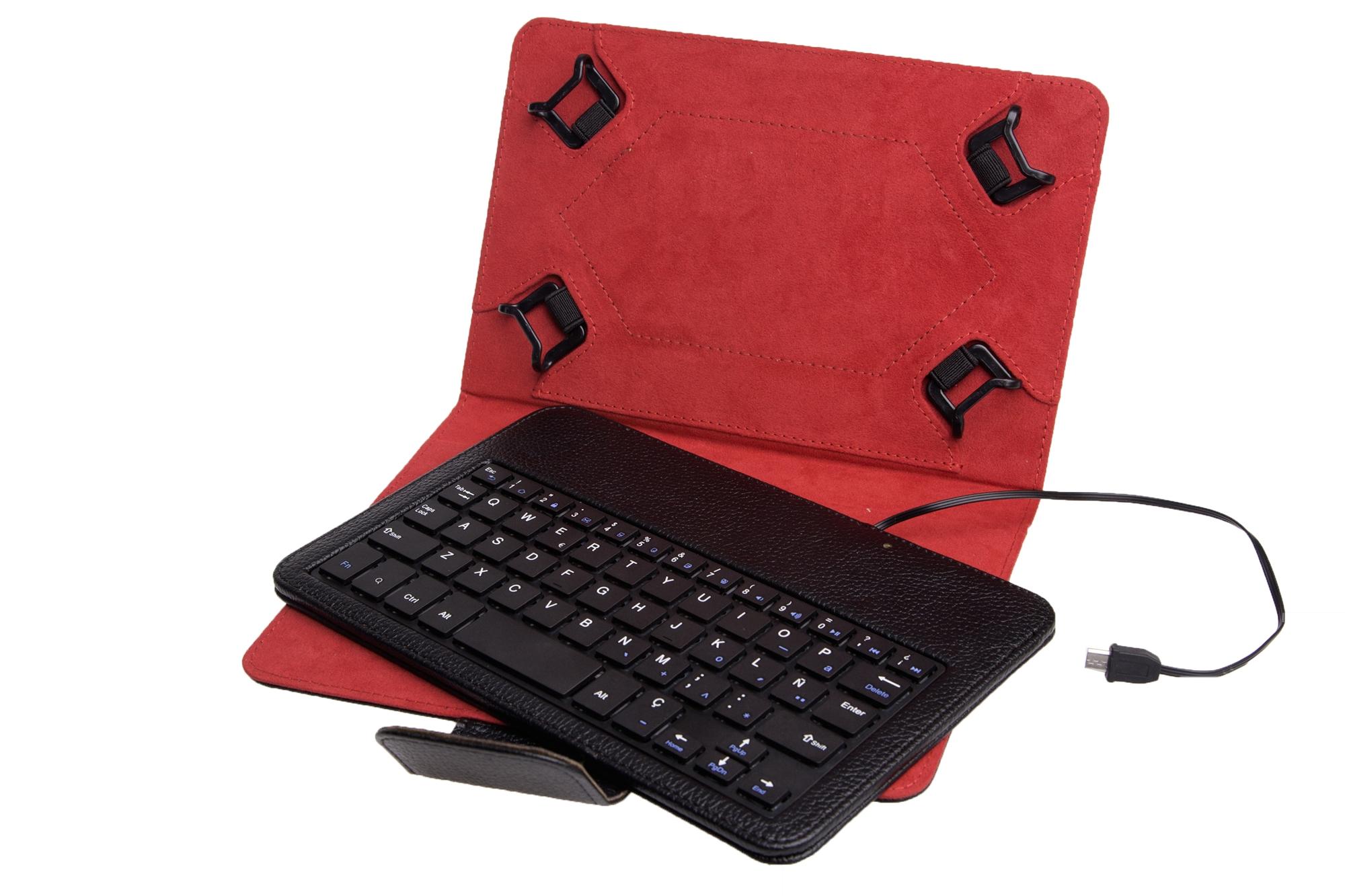 Funda universal teclado con cable solicitud de pedido precios accesorios de tablets baratos - Funda tablet con teclado 7 ...