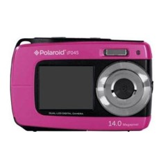 Camara digital polaroid if045 rosa 14mp doble pant