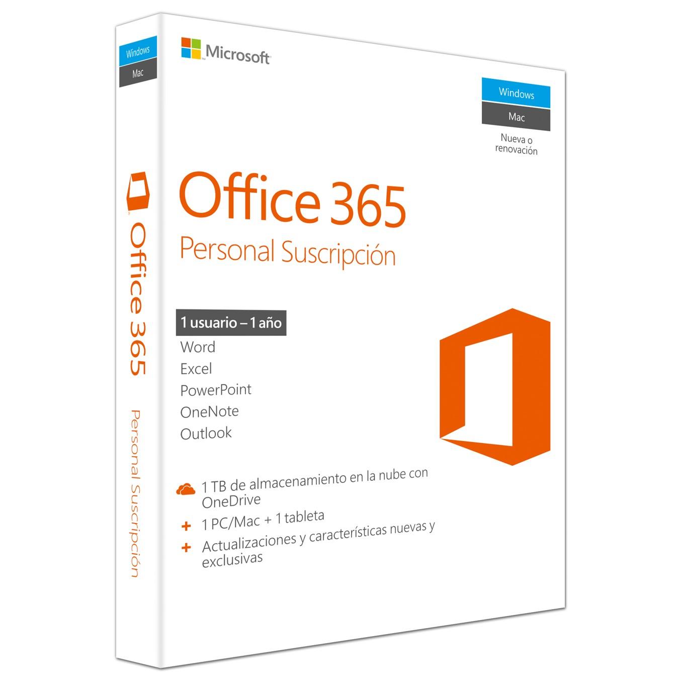 Microsoft 365 Personal - licencia de suscripción (1 año) - 1 usuario, hasta 5 dispositivos