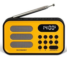Radio digital schneider handy mini amarillo