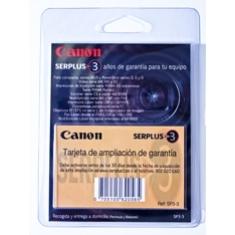 Ampliacion de garantia canon a 3 años ixus laser v
