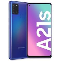 """TELEFONO MOVIL SMARTPHONE SAMSUNG GALAXY A21S BLUE 6.5""""/ 64GB ROM/ 4GB RAM/ 48+8+2+2 MPX - 13 MPX/ 5000 MAH/ HUELLA"""