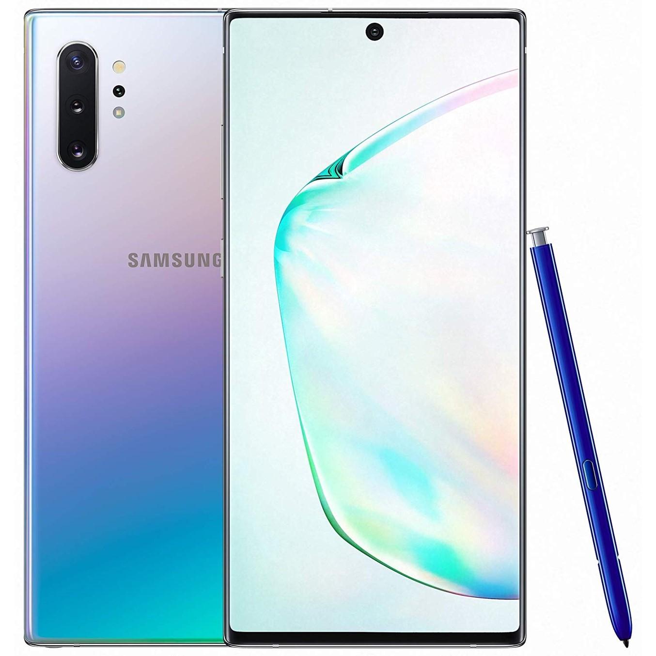 Telefono movil smartphone samsung galaxy note 10 aura glow - 6.3pulgadas - 256gb ram - 8gb ram - 12 + 16 + 12 mpx -  10mpx - octa core - dual sim - lector de huella