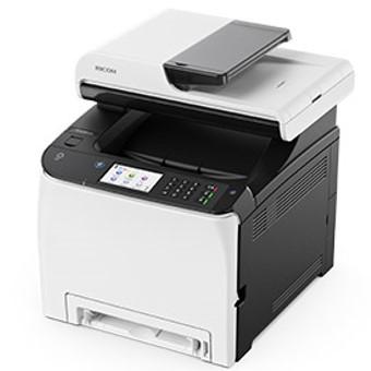 MULTIFUNCION RICOH LASER COLOR SPC261SFNW FAX- A4- 20PPM- 256MB- USB- RED- WIFI- ADF 50 HOJAS- DUPLEX TODAS LAS FUNCIONES- NFC