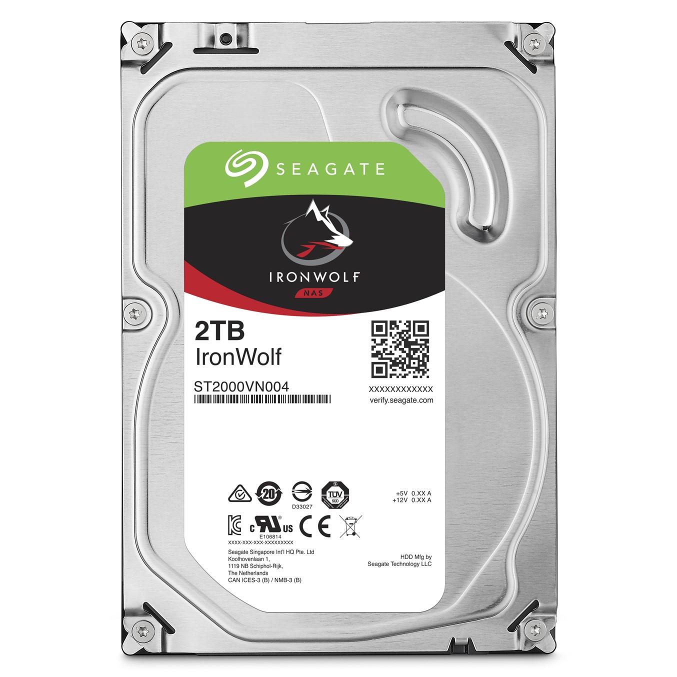 Seagate IronWolf ST2000VN004 - disco duro - 2 TB - SATA 6Gb/s