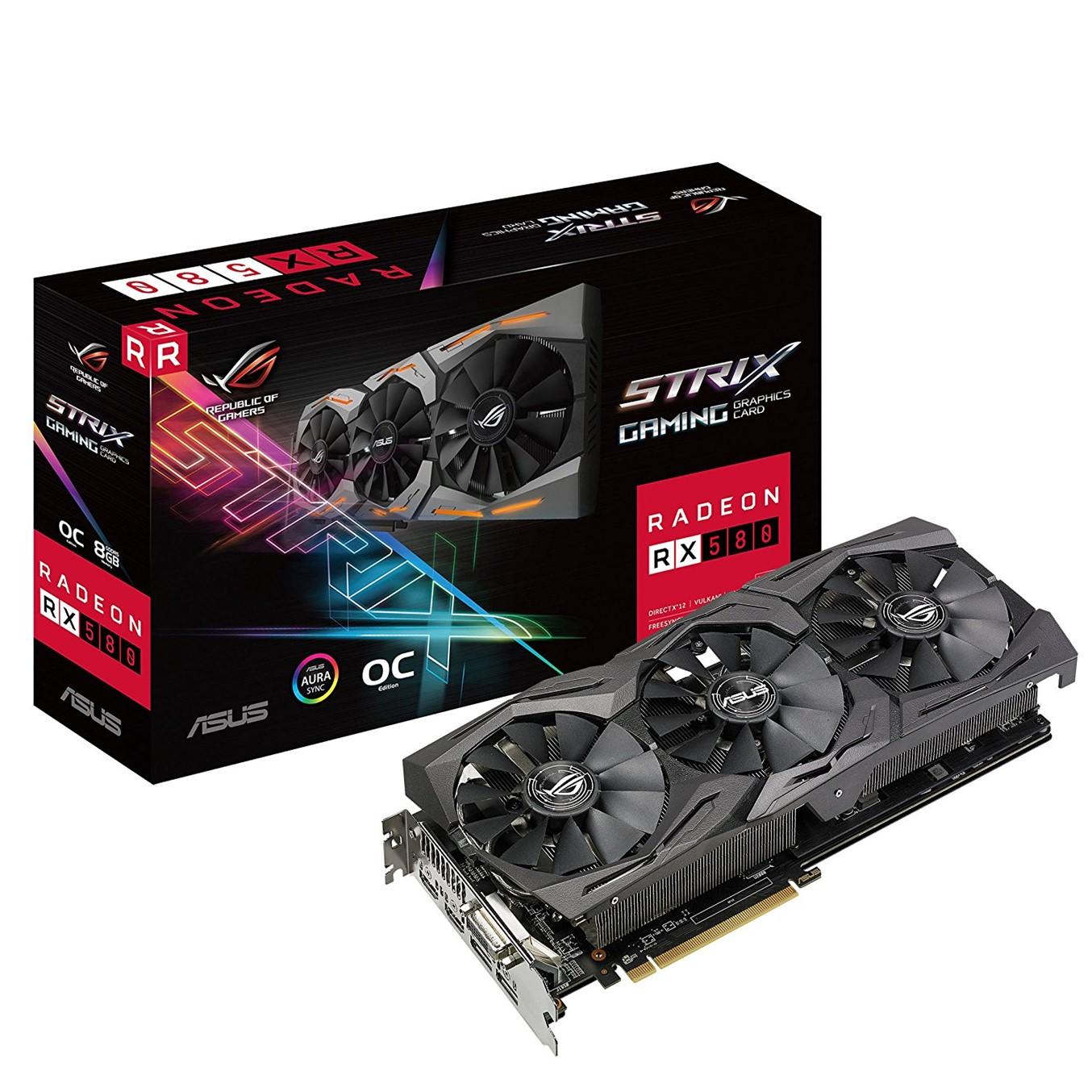 TARJETA GRAFICA ASUS AMD ROG STRIX-RX580-T8G GAMING