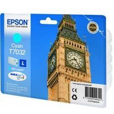 Epson T7032 - Tamaño L - cián - original - cartucho de tinta