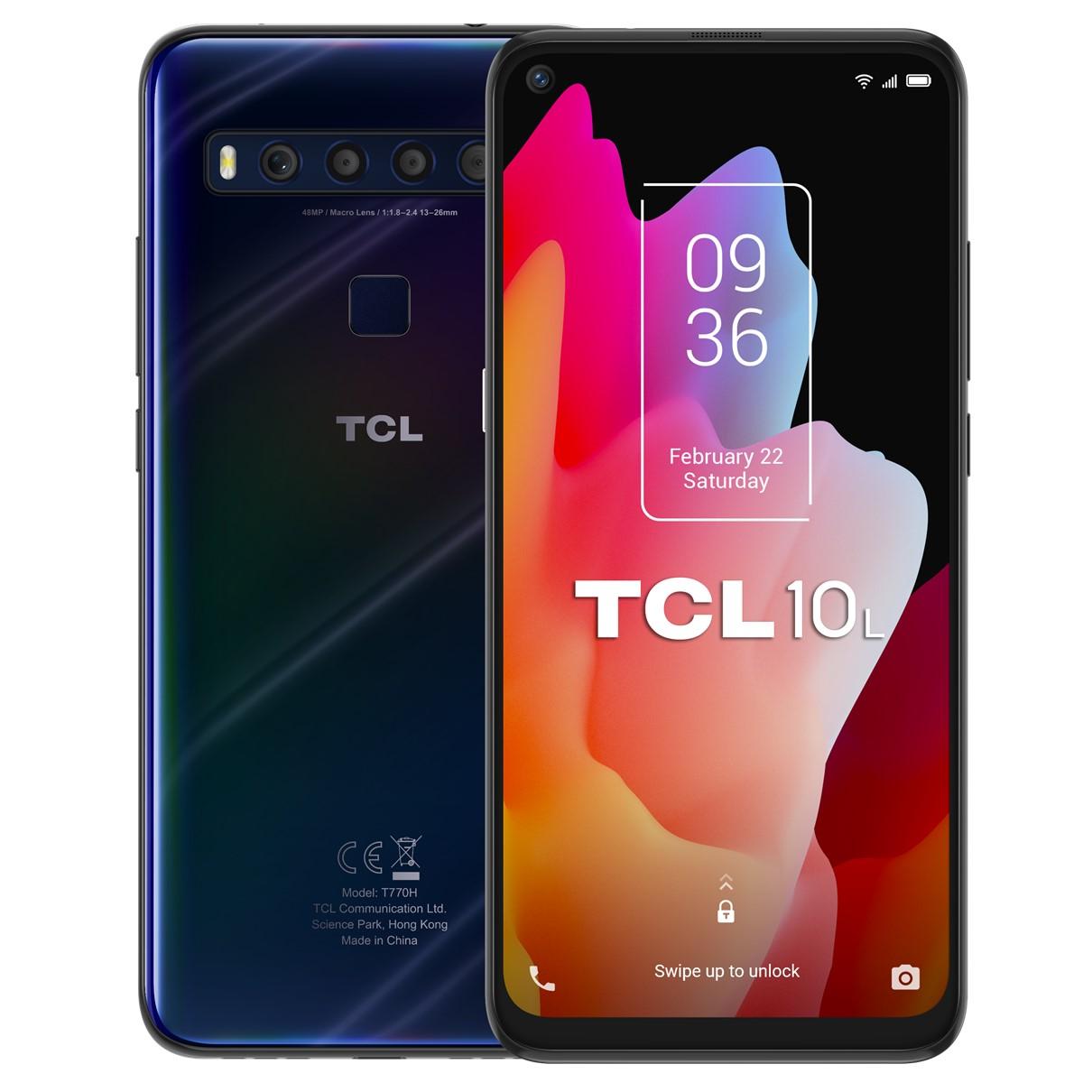 """TELEFONO MOVIL SMARTPHONE TCL 10L DARK BLUE / 6.53"""" / 64GB ROM / 6GB RAM / 48+8+2+2MPX - 16MPX / OCTA CORE / 4G / DUAL SIM / HUELLA"""