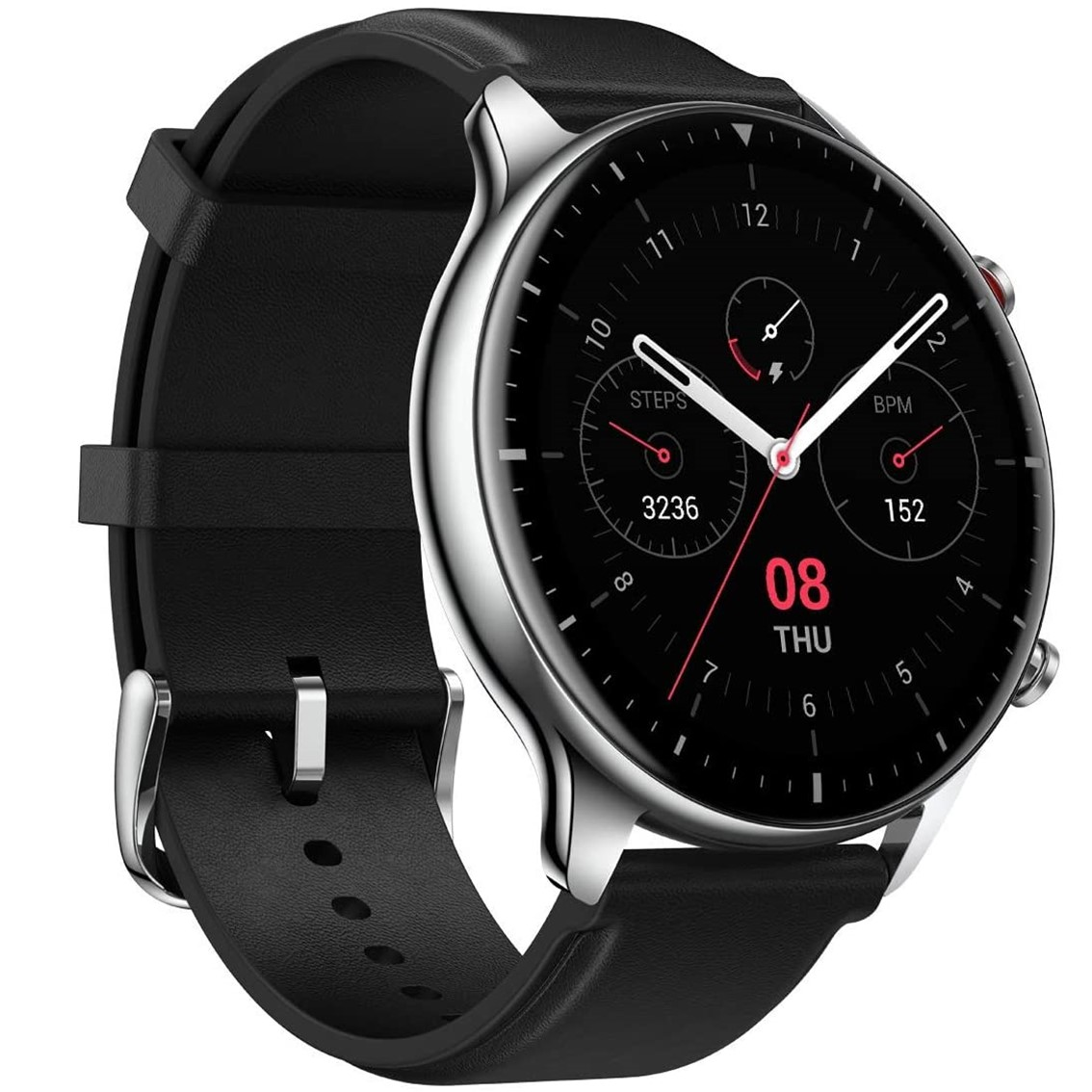 "PULSERA RELOJ DEPORTIVA AMAZFIT GTR 2 / 47MM OBSIDIAN BLACK / CLASSIC EDITION STAINLESS STELL/ SMARTWATCH 1.39""/ BLUETOOTH/ AMOLED"